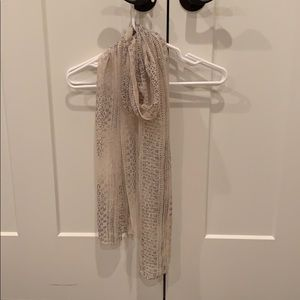 Sheer neutral scarf
